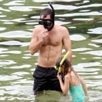 Jude Law snorkeling